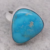 Turquoise dress ring in silver