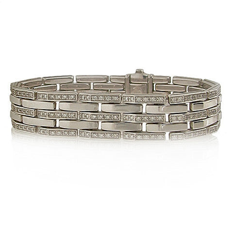 Wristwear - Diamond bracelet in 18ct white gold, 2.63ct  - PA Jewellery