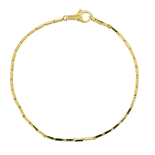 Bamboo link bracelet in 18ct yellow gold