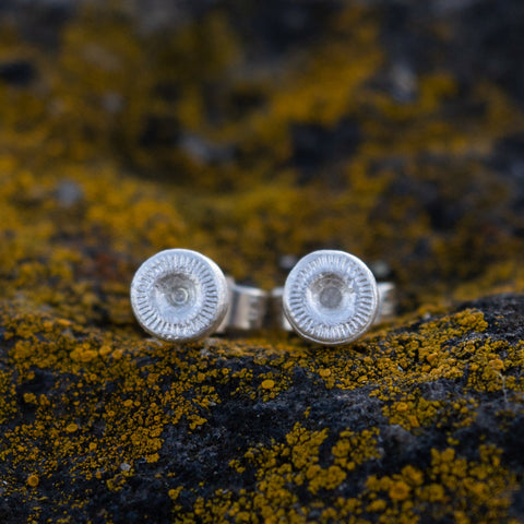 Lindisfarne collection stud earrings in silver