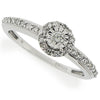 Ring - Illusion set diamond cluster ring in 9ct white gold, 0.25ct  - PA Jewellery