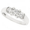 Brilliant cut diamond three stone ring in 18ct white gold, 0.77ct