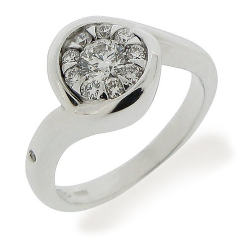 Ring - Diamond set ring in 18ct white gold, 0.50ct  - PA Jewellery