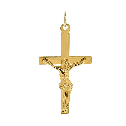 Crucifix pendant in 9ct yellow gold