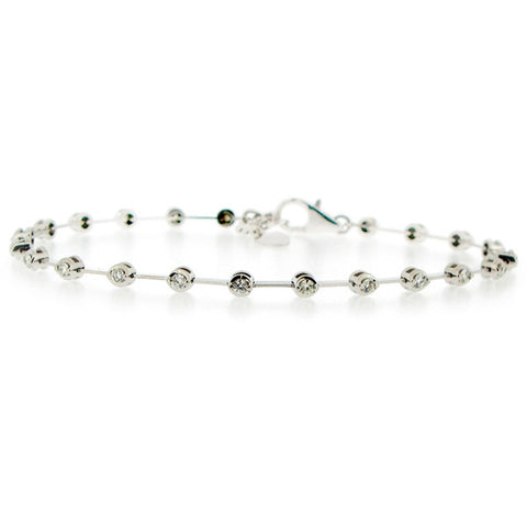 Wristwear - Diamond bracelet in 18ct white gold, 0.55ct.  - PA Jewellery