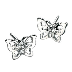 Earrings - Butterfly earrings in silver  - PA Jewellery