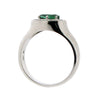 Ring - Green Tourmaline and diamond ring in 18ct white gold  - PA Jewellery