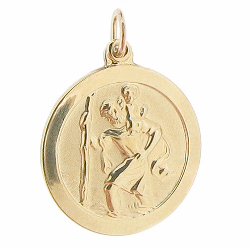 Neckwear - St Christopher pendant in 9ct yellow gold  - PA Jewellery