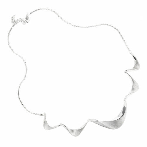 Neckwear - Ribbon twist necklace in silver  - PA Jewellery