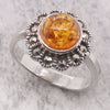 Amber and marcasite dress ring
