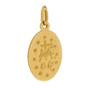 Miraculous medal in 9ct yellow gold