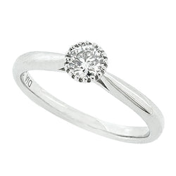 Brilliant cut diamond solitaire ring in 18ct white gold, 0.25ct
