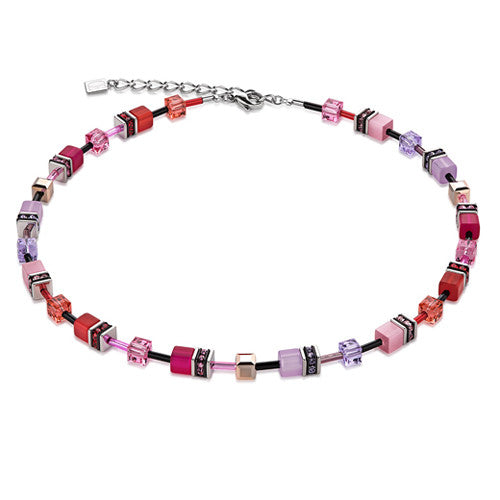 Neckwear - PINK CUBE NECKLACE - 2838/10-0325  - PA Jewellery