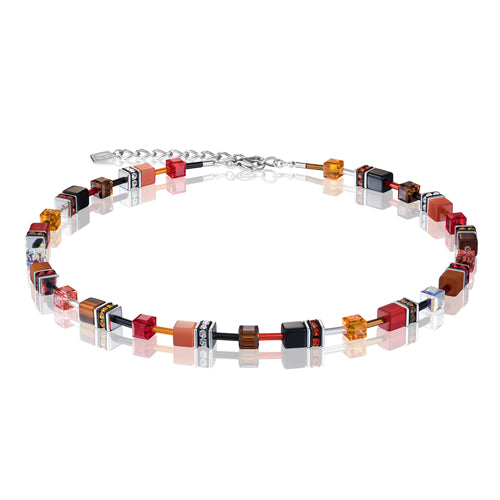 RED/ORANGE CUBE NECKLACE - 2838/10-0302