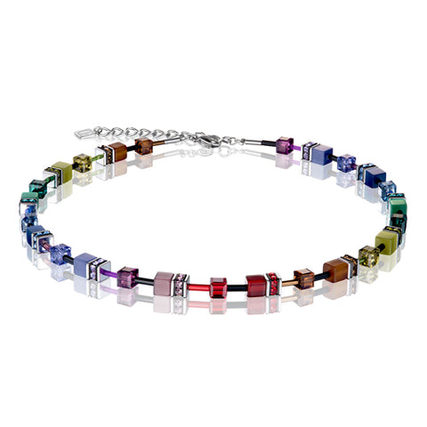 RAINBOW CUBE NECKLACE - 2838/10-1570