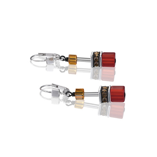 RED/ORANGE GEO CUBE EARRINGS - 2838/20-0302