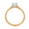 Ring - Princess cut diamond solitaire ring in 18ct rose gold, 0.37ct  - PA Jewellery