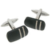 Steel and composite carbon fibre cufflinks