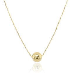 Single bead slider necklace in 9ct gold