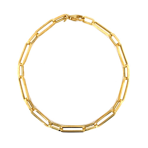 Open link bracelet in 9ct gold