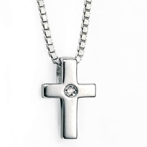 Neckwear - Cross pendant and chain in silver  - PA Jewellery