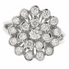 Diamond cluster ring in 18ct white gold, 0.89ct