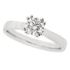 Brilliant cut diamond solitaire ring in platinum, 0.53ct