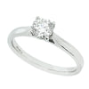 Brilliant cut diamond solitaire ring in platinum, 0.51ct