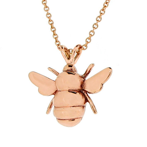 Neckwear - Bee necklace in 9ct rose gold  - PA Jewellery