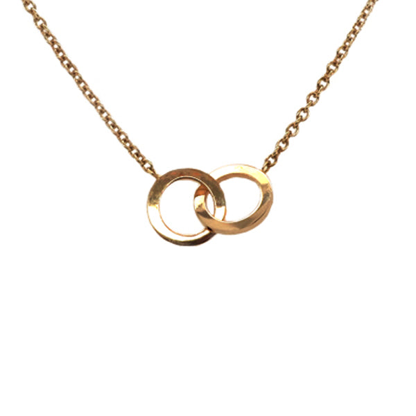 Double circle necklace in 9ct gold