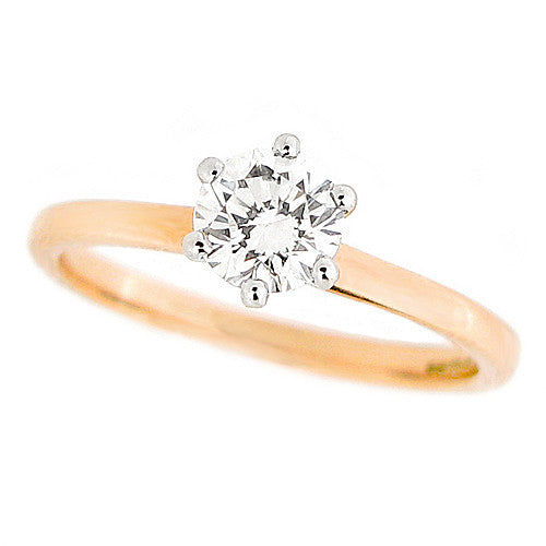 Ring - Brilliant cut diamond solitaire ring in 18ct rose gold, 0.56ct  - PA Jewellery