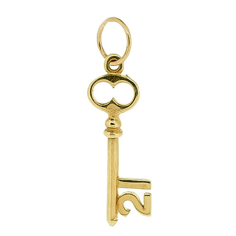 '21' key pendant in 9ct gold
