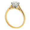 Brilliant cut diamond solitaire ring in 18ct gold, 0.91ct