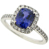 Ring - Colour change sapphire and diamond ring in platinum  - PA Jewellery