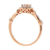 Ring - Morganite and diamond clsuter ring in 18ct rose gold  - PA Jewellery