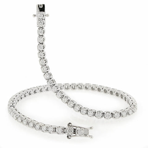 Wristwear - Diamond line bracelet in platinum, 2.00ct  - PA Jewellery