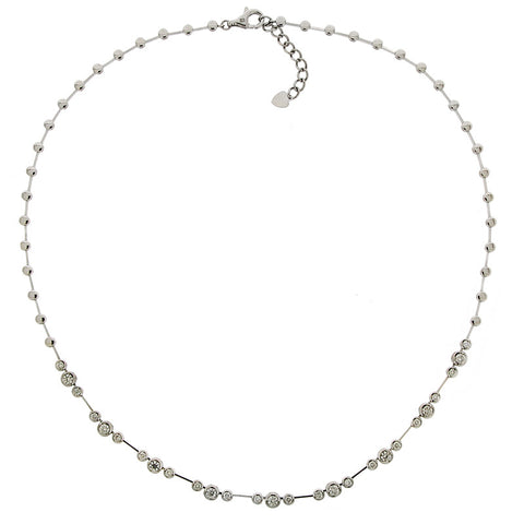 Neckwear - Diamond necklace in 18ct white gold  - PA Jewellery