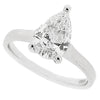 Pear shape diamond solitaire ring in platinum, 1.19ct