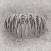 Broad squiggle ring in silver