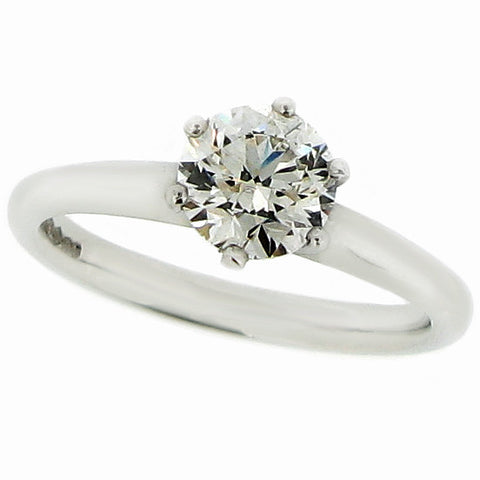 Ring - Brilliant cut diamond solitaire ring in platinum, 1.00ct  - PA Jewellery