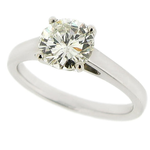 Rings - Diamond solitaire ring, 1.38ct. Platinum  - PA Jewellery