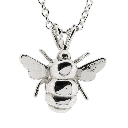 Bee pendant in silver