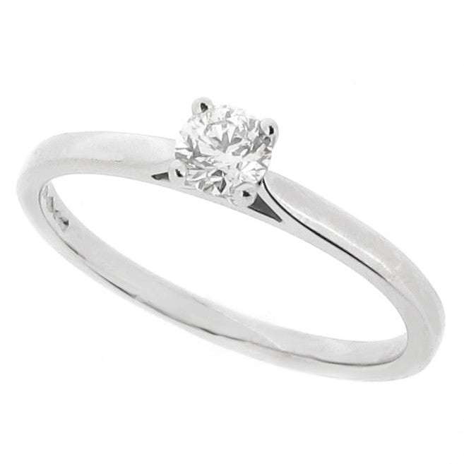 Rings - Brilliant cut diamond solitaire ring in platinum, 0.24ct  - PA Jewellery
