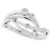 Rings - Diamond set curved 'scatter' ring in 18ct white gold, 0.19ct  - PA Jewellery