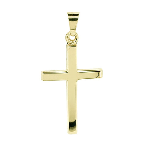 Cross pendant in 9ct yellow gold