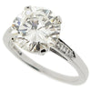 Brilliant cut diamond solitaire ring with diamond set shoulders, 3.13ct total
