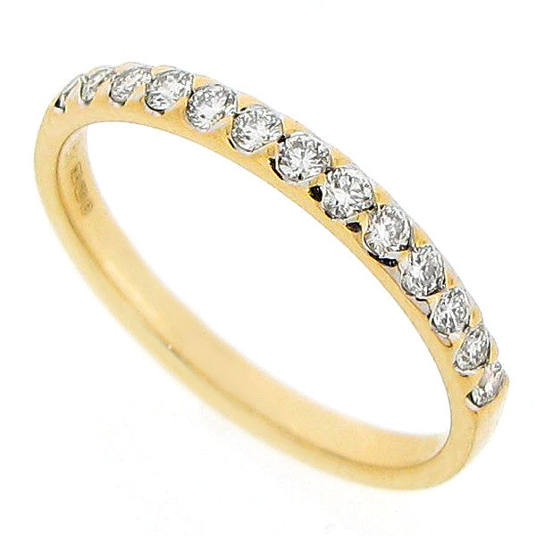 Brilliant cut diamond half eternity ring in 18ct gold, 0.25ct