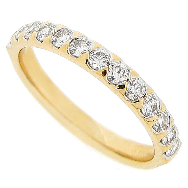 Brilliant cut diamond half eternity ring in 18ct gold, 0.50ct