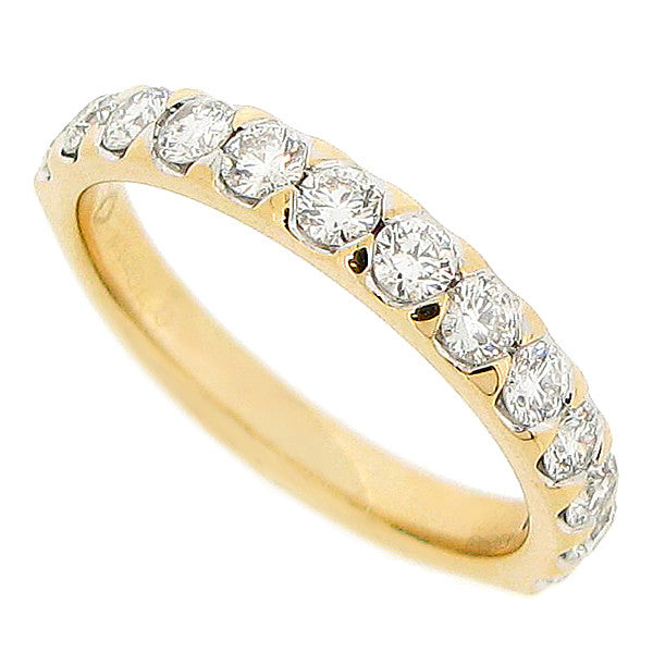 Brilliant cut diamond half eternity ring in 18ct gold, 0.70ct