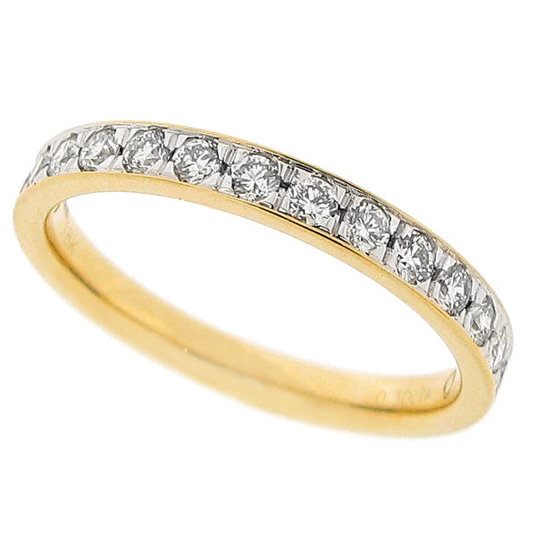 Grain set diamond half eternity ring in 18ct gold, 0.30ct